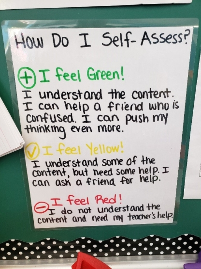 color coded self assessment 1